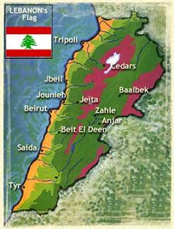 Lebanon's Map